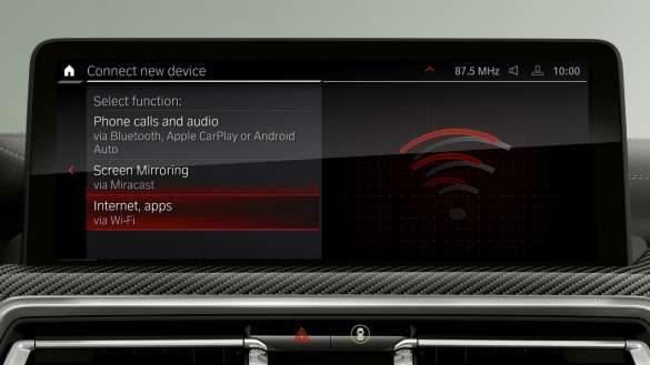 BMW X3 M Automobile F97 G01 LCI Facelift 2021 WLAN Hotspot Control Display
