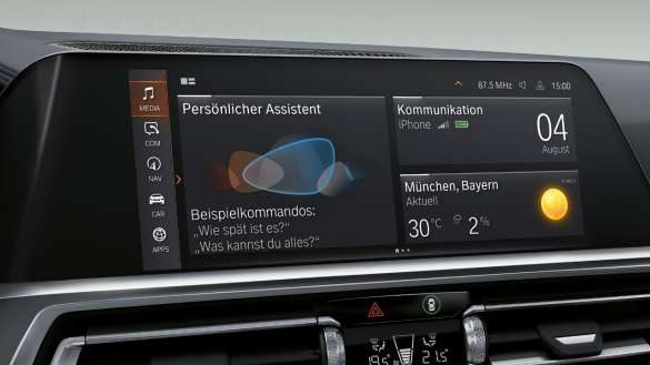 BMW 4er Gran Coupé Intelligent Personal Assistant.